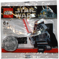 LEGO Star Wars Minifigur - Darth Vader, chrome black...