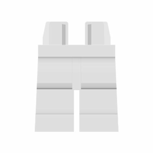 LEGO Beine plain, weiß