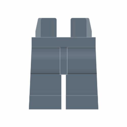 LEGO Beine plain, dunkel steingrau