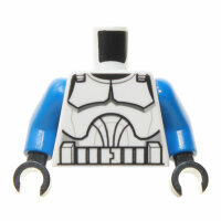 Clone Trooper Torso, weiß, blaue Arme, P1