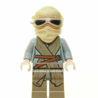 LEGO Star Wars Minifigur - Rey mit Kopfschal und Brille...