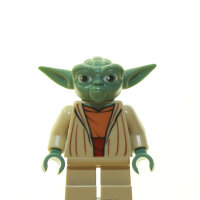 LEGO Star Wars Minifigur - Yoda, CW (2013), dunkles Shirt