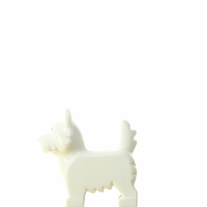 Lego Figur Hund Weiss 1774 #