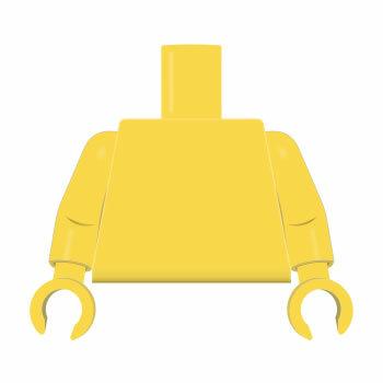 Torso & Arme plain gelb, gelbe Hände