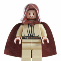 LEGO Star Wars Minifigur - Qui-Gon Jinn, brauner Bart (2007)