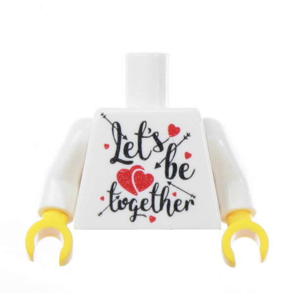 Custom Torso, Lets be together, optional mit rückseitiger Bedruckung