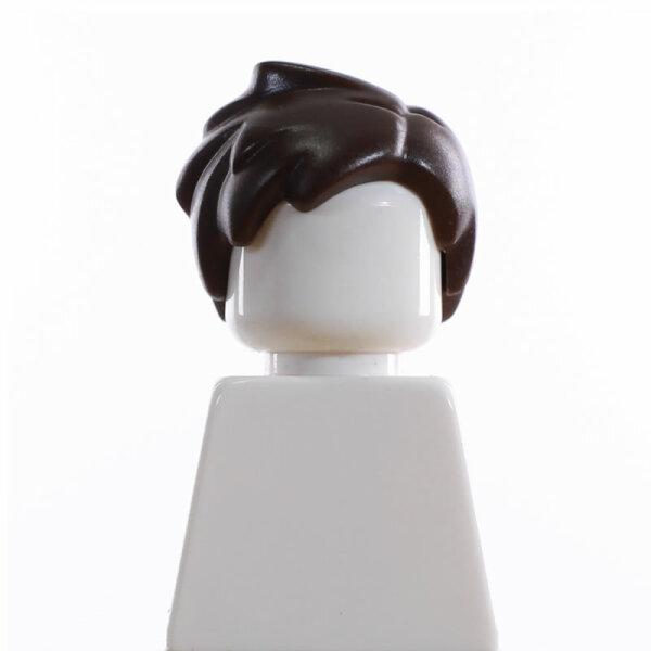 Haare, stehend, Seitenscheitel, dunkelbraun