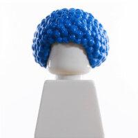 Haare, Afro, Locken, blau