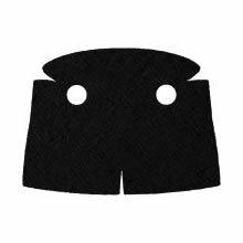 Custom Trenchcoat mit Kragen für Minifigur, schwarz