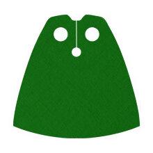 Custom Standard-Umhang für Minifigur, grün