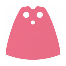 Custom Standard-Umhang für Minifigur, pink