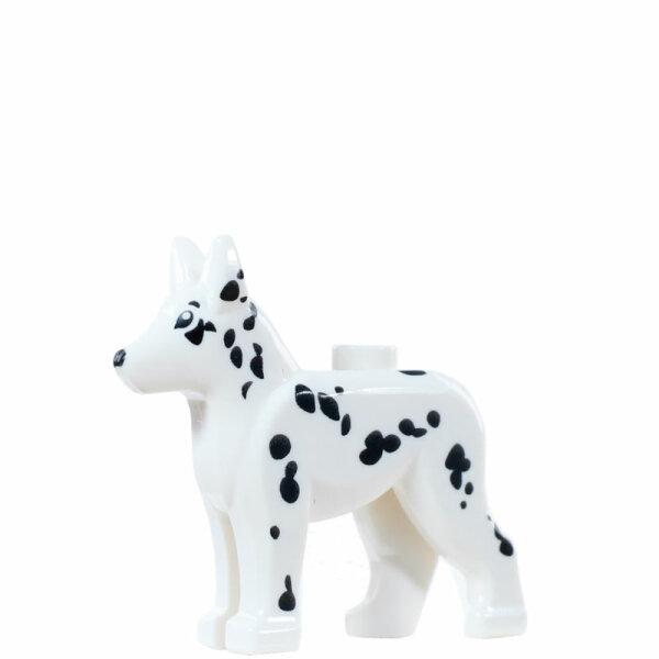 LEGO Hund Schäferhund, weiß/schwarz