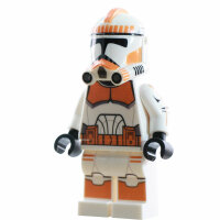 Custom Minifigur - Clone Shock Trooper, orange