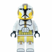 Custom Minifigur - Clone Commander Bly, Com Hemet
