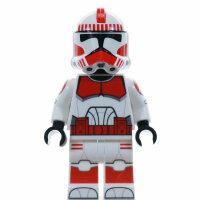 Custom Minifigur - Clone Shock Trooper, rot, realistic...